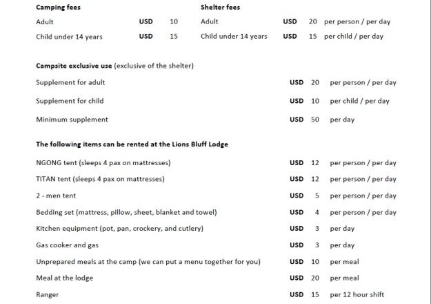 Cheetah-campsite-lumo-price